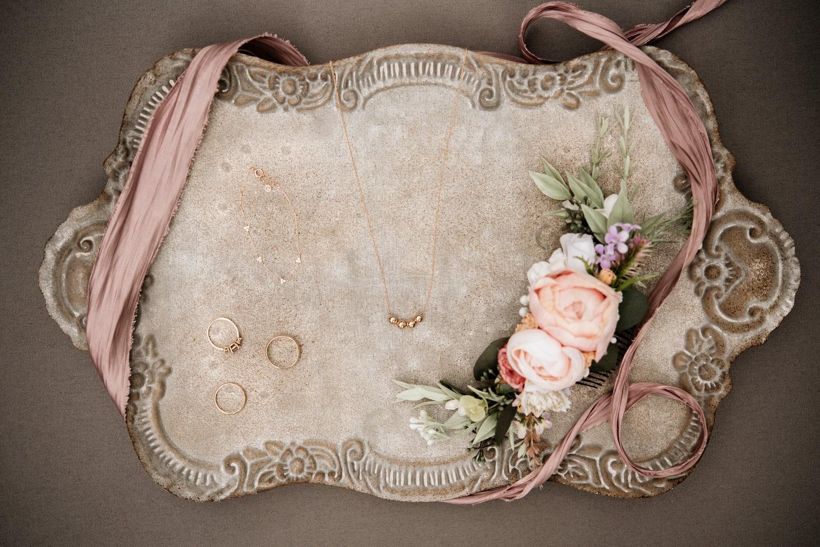 Bridal Detail Flat Lay Wedding Photography