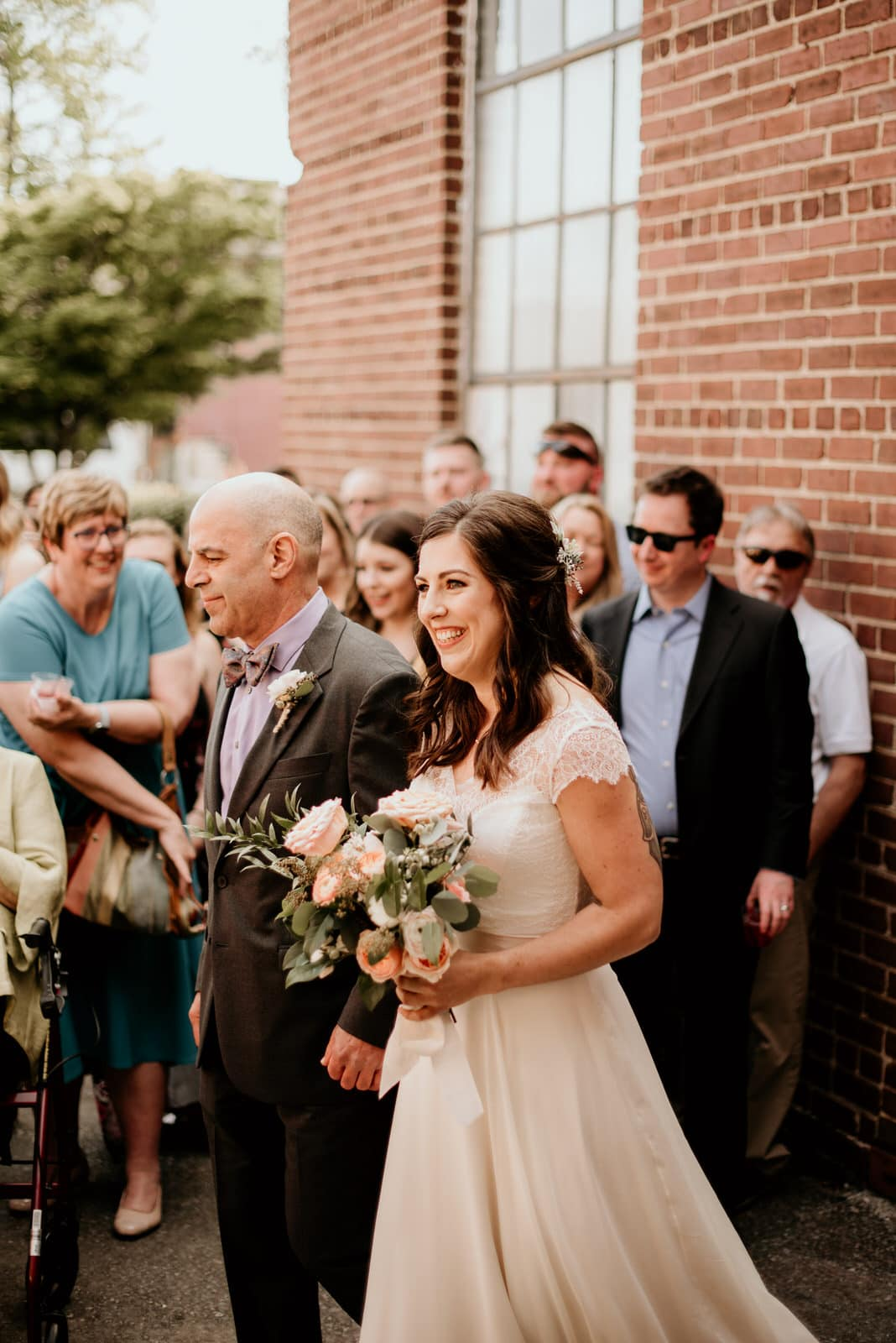 Father and Bride walking down the isle