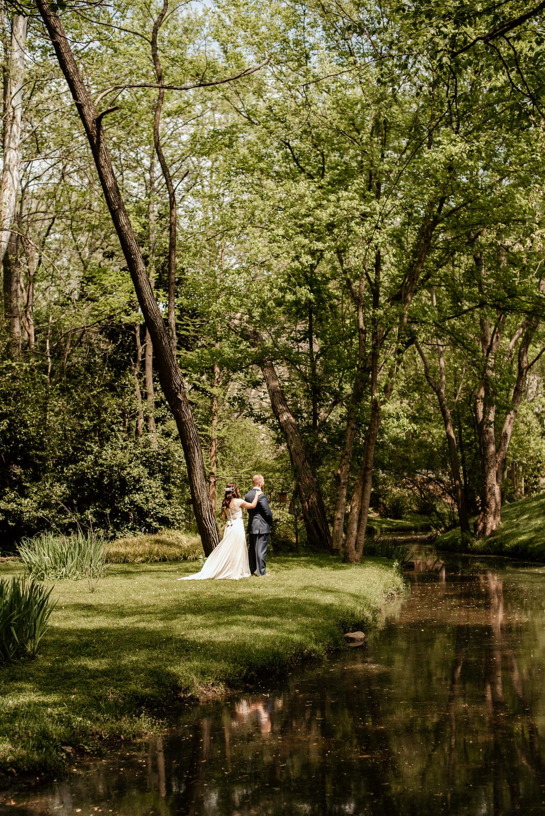 Wedding First Look in Nature